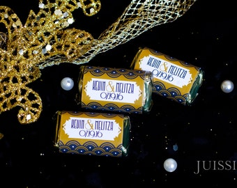 Download Great Gatsby hersheys miniatures wrapper Candy wrapper Bridal shower Pdf file Personalized party favors DIY Customized Wedding