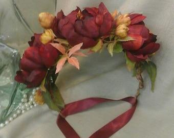 Vibrant Autumn Flower Crown