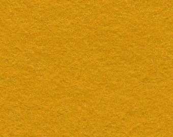 Wool Felt - Old Gold - Sold By the Half Yard (BTHY)