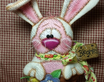 That Bloomin' Bunny Pattern #208 - Primitive Doll/Ornie Pattern