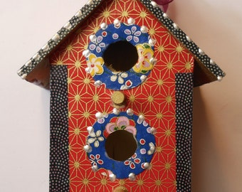Colorful Red Asian  Birdhouse