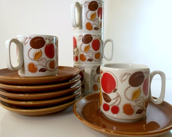 Retro Tognana Espresso Cup and Saucer Set.
