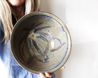 Large vintage stoneware bowl