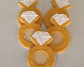 Diamond Ring Sugar Cookies