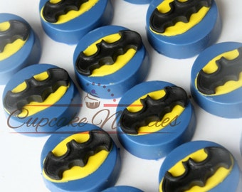 Batman Birthday Batman Cookies Superhero Cookies Chocolate Oreos Super Hero Favors Batman Party Favor Batman Oreos Batman Logo Batman Robin
