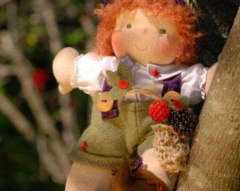 Forest Elf Waldorf doll