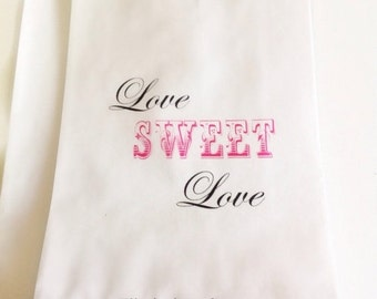 ON SALE Candy Buffet Favor Bags, Personlized Candy Bags, Gift Bags, Treat Bags, Wedding Favors Bags