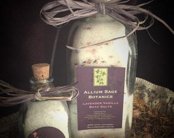 Lavender Vanilla Bath Salt Soak -  20 oz.