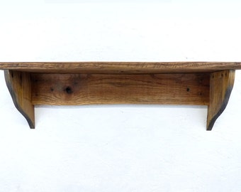 Pallet Wood Shelf, Primitive Shelf, Rustic Wood Shelf, Wood Shelving, Pallet Wood Shelving, Primitive Decor, Rustic Decor
