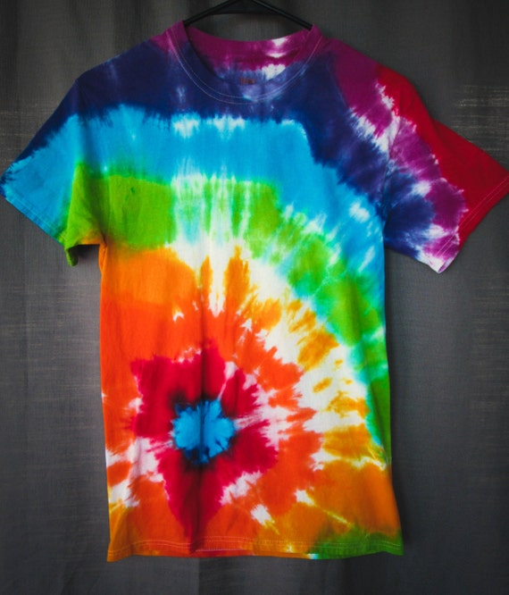 Hand Dyed Rainbow Adult Tie Dye Shirt
