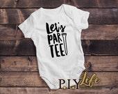 Baby Onesie |  Let's Par-tee Golf Baby Body Suit Onesie DTG Printing on Demand
