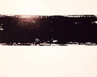 48x48 white, cream and black art