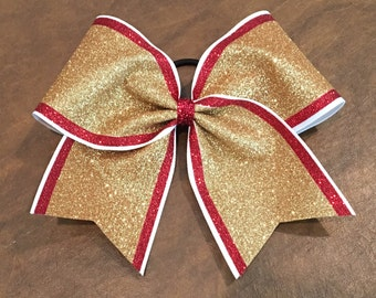 Cheer Bow - Striped Glitter (ALL COLORS available!!)