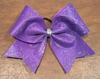 Cheer Bow - Lavender with Sparkles