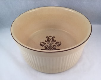 Village Pfaltzgraff Souffle Dish Tan and Brown, Casseroles, Cakes