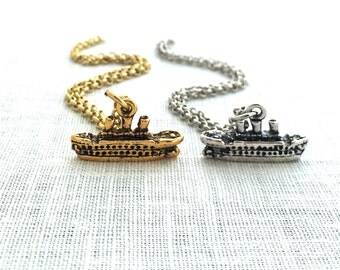 Boat Necklace, Vacation Mode Gifts, Cruise Life Ship, Surprise Birthday Gift, Bon Voyage Party, Boat Charm Necklace for Women,  A0081