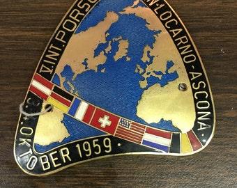 1959 Porsche Treffern Locarno Car Badge