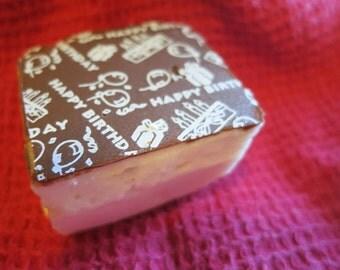 Happy Birthday Marshmallows  - SPECIAL HALF DOZEN fair trade Gourmet homemade