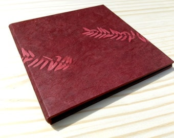 Red DVD Case, Organic CD Case, Choice of Outer Lokta.