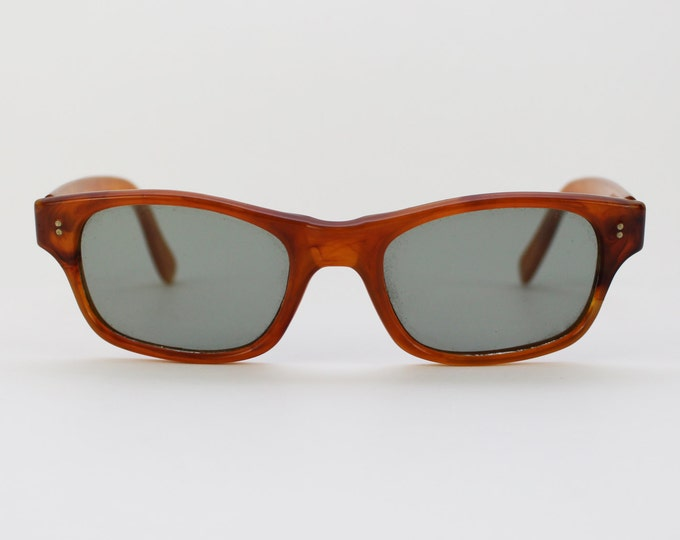 Vintage 40s Caramel Brown Sunglasses - 1940s Plastic Eyewear