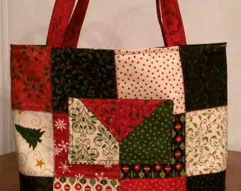 Quilted Christmas Tote/Versatility Bag