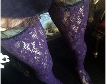 Violet Lace Stockings (SD)