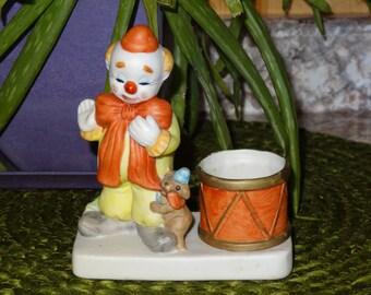 Vintage Clown Candle Holder