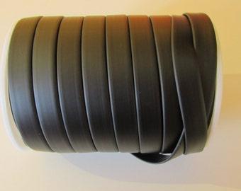 D-02820 - 1 metre syntetic Rubber Cord flat 10x2mm black