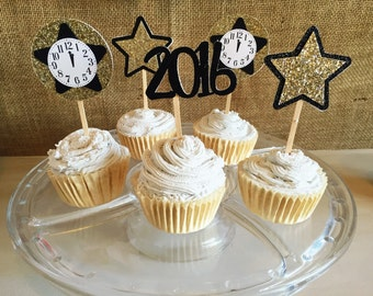 New Years eve cupcake topper, new years eve decorations, new years eve party, nye cupcake , nye decor, nye party, nye decorations, nye 2016