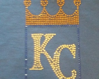 KC ROYALS Rhinestone Shirt