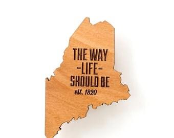 Maine State Fridge Magnet