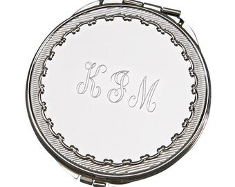 Scarlett Round Compact Mirror - Personalize Compact Mirror