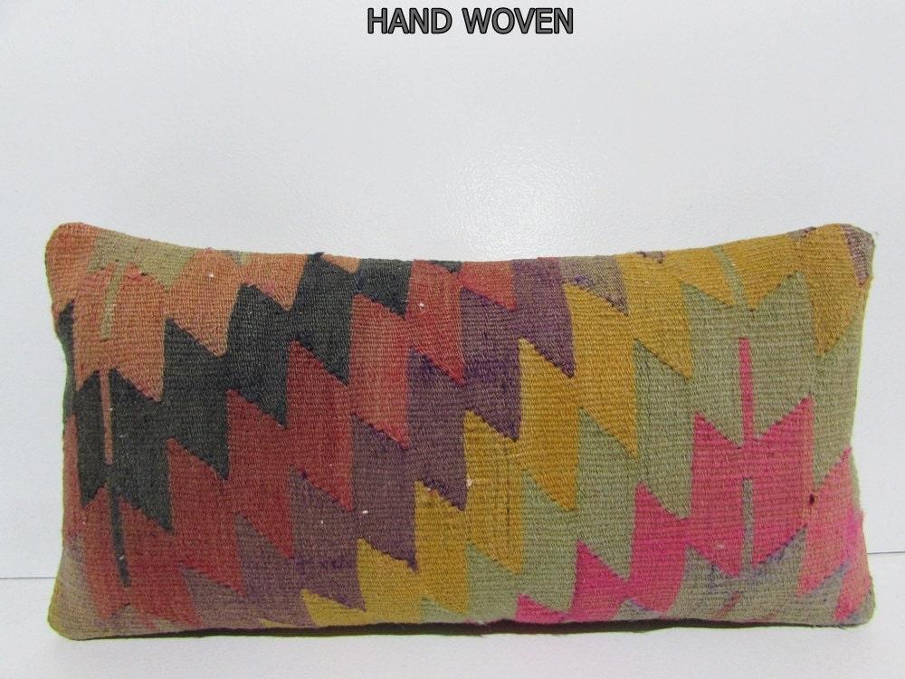 Long Decorative Pillows : long lumbar pillow bright throw pillow by DECOLICKILIMPILLOWS