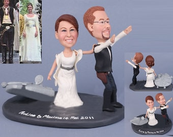 Personalised wedding cake topper - Star war theme topper (Free shipping)
