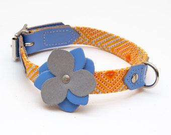 Botanical Blue Reflective Flower