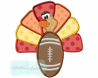 Football Turkey Applique Design Buy2 Get1