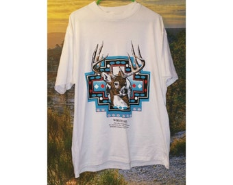 SALE - Vintage Wildlife Stag Whitetail Deer Shirt