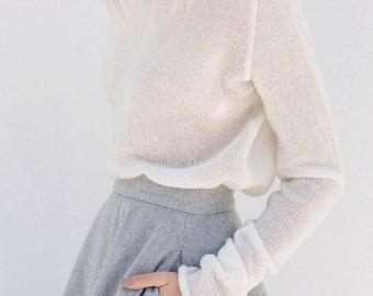Sweaters | women's sweaters | minimalist sweater | cowl neck sweater | white sweater | wool sweater
