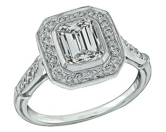 GIA Certified 1.12ct Diamond Engagement Ring