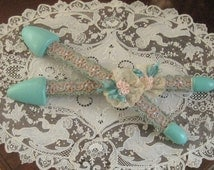 Upcycled Vintage 1920's - 30's Ladies Shoe Stretchers - French Passementerie - Lace and Ribbonwork