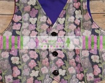 Willy Wonka Inspired Purple Costume Unisex VEST ONLY Infant Toddler Boys Girls Sizes thru Youth 10