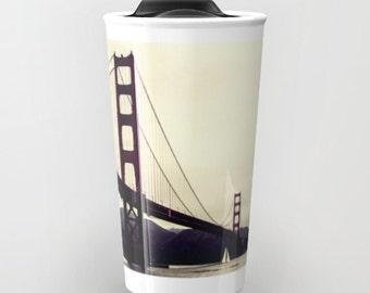San Francisco, Golden Gate Bridge, Travel Mug, Tumbler, San Francisco Bay, California