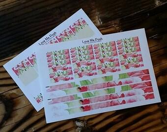 Spring Fling Flowers Planner Stickers