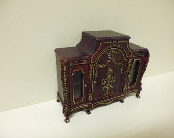 Quality 1/12th Dolls House Furniture Mahogany Gilt Sideboard 04050