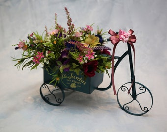 Artificial Flower Gift - Tricycle - Flower Gifts - Fake Flowers
