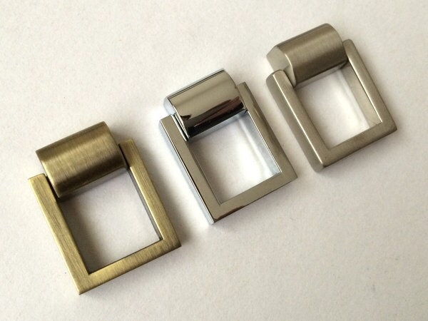 Square Drop Rings Pulls Knobs Cabinet Door Knobs Pulls Dresser ...