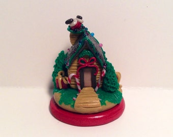 Miniature Holiday Home with Santa