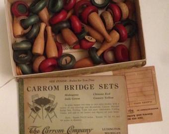 Carroom Vintage 1950's Game Pieces