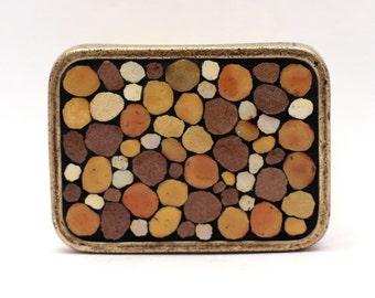 Mosaic belt buckle -- Stone Wall