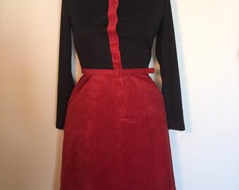 Enchanting Escapade Dress - Size Small - Vintage Dress - Career Dress - 80's Dress - Winter Dress - Long Sleeve Dress - Secretary Dress